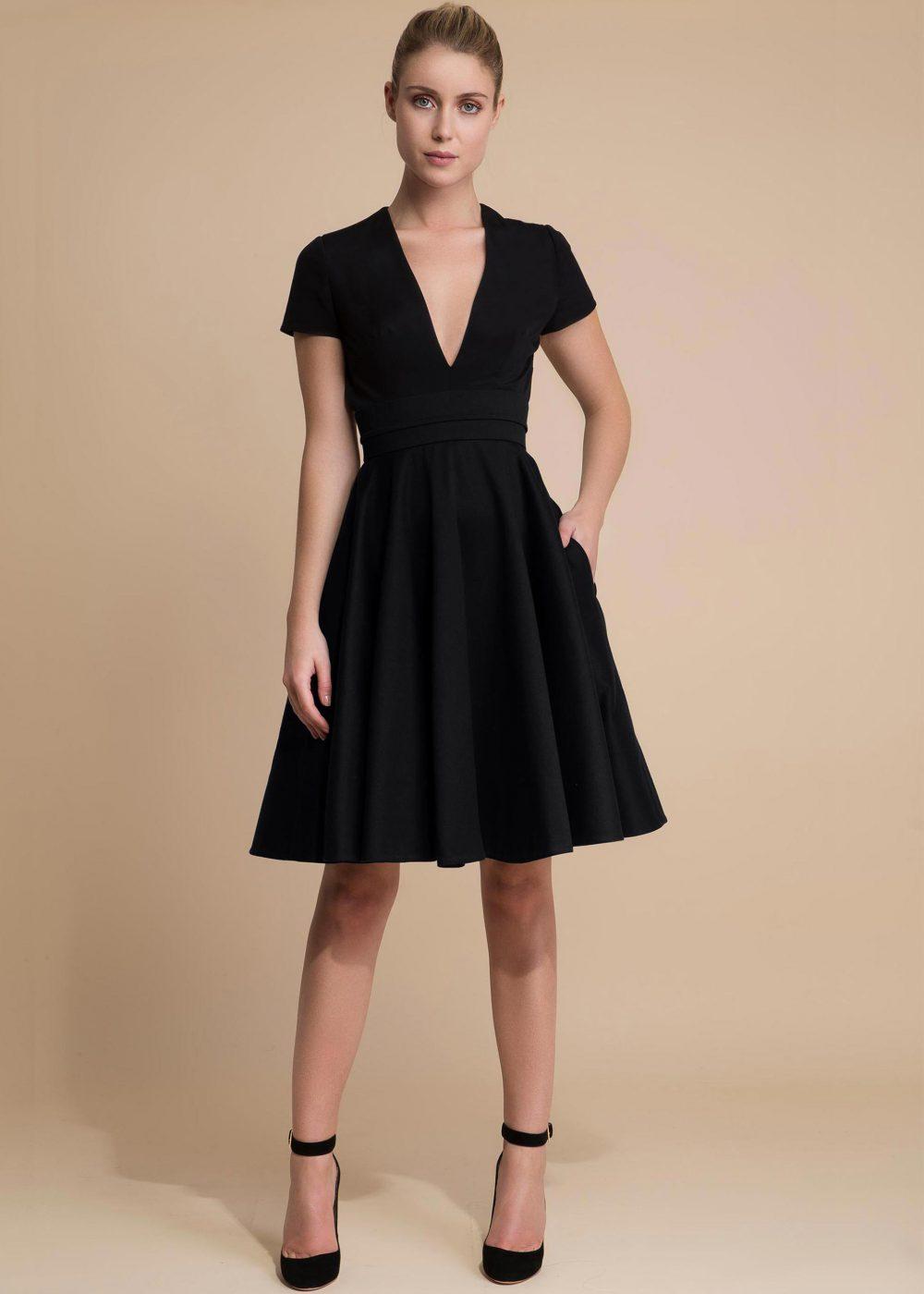 Achille-createur-robe-de-soiree-courte-noire1
